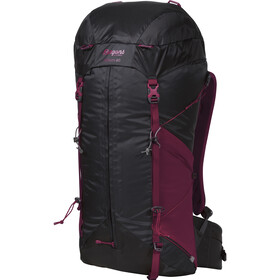 Bergans Helium 40 Mochila Mujer, solid charcoal/beet red